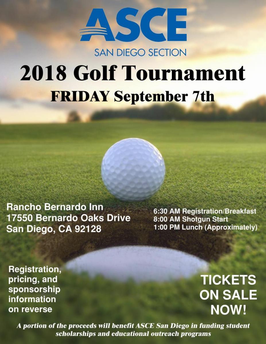 asce golf tournament san diego section